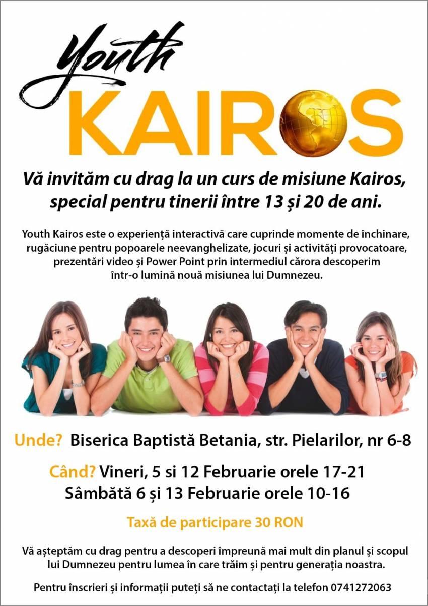 Youth Kairos România: Curs de misiune pentru tineri