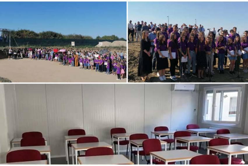 Aradon.ro: Festivitate atipică pe şantierul viitorului Liceu Baptist din Arad