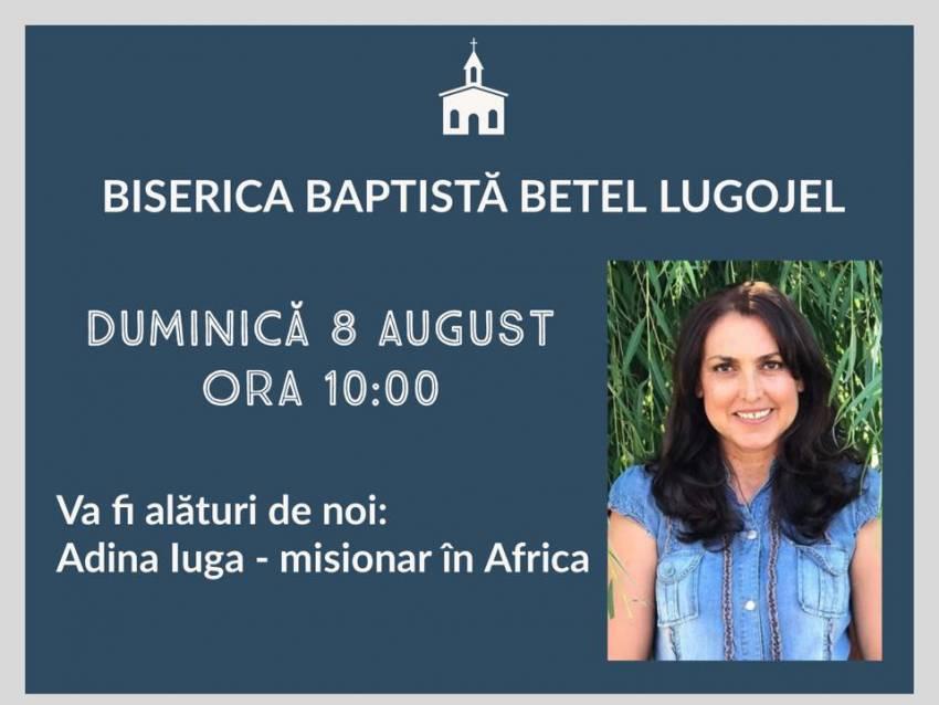 Adina Iuga la Biserica Betel Lugojel