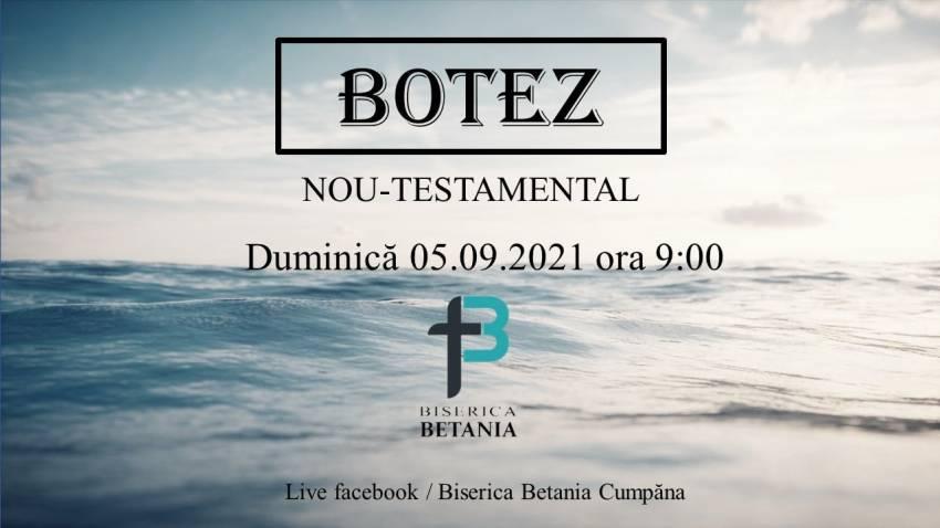 Botez la Biserica Betania Cumpăna