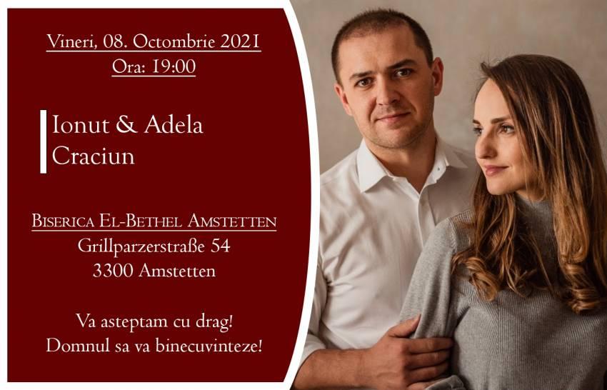 Ionuț & Adela Crăciun la Biserica El-Bethel Amstetten