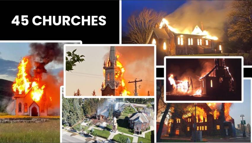 Bisericile ard dar nu in Orientul Mijlociu, ci in Canada