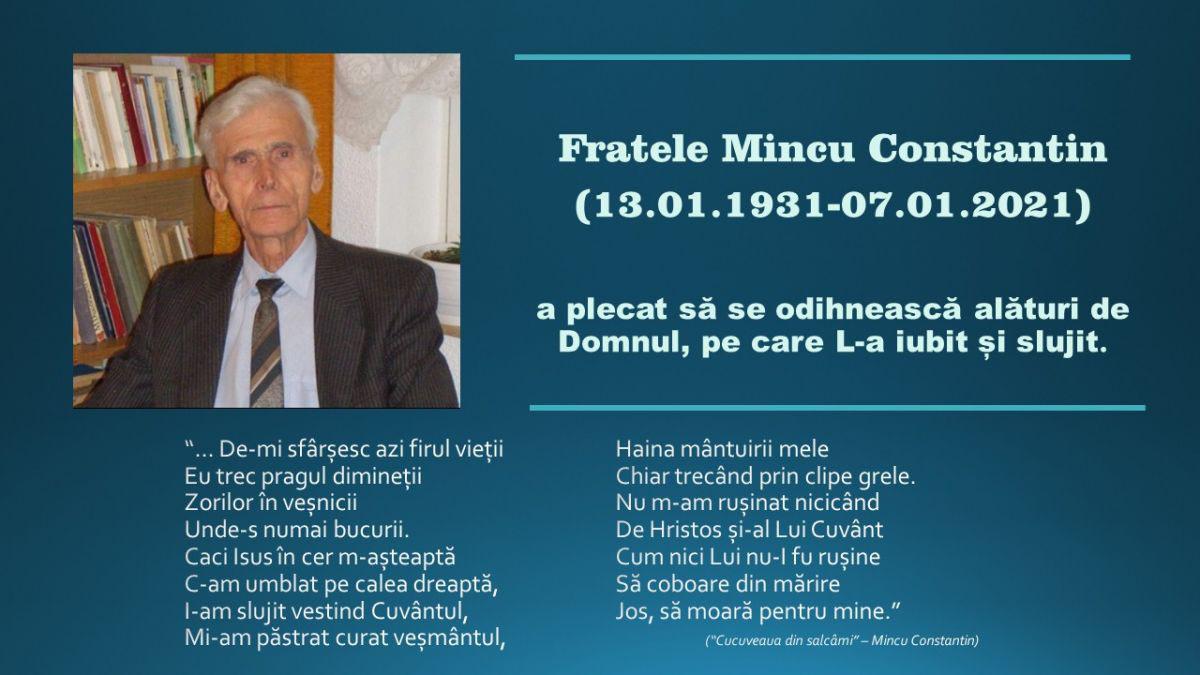 Nicolae Geantă ◉ Fratele Costică Mincu – simplu, smerit, sfânt. Plecat Acasă