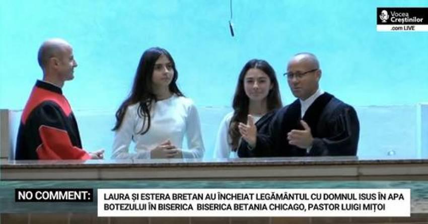 """Pro TV: Laura Bretan, botezată în biserică la 19 ani, alături de sora ei mai mică. """"Ne-am decis"""""""