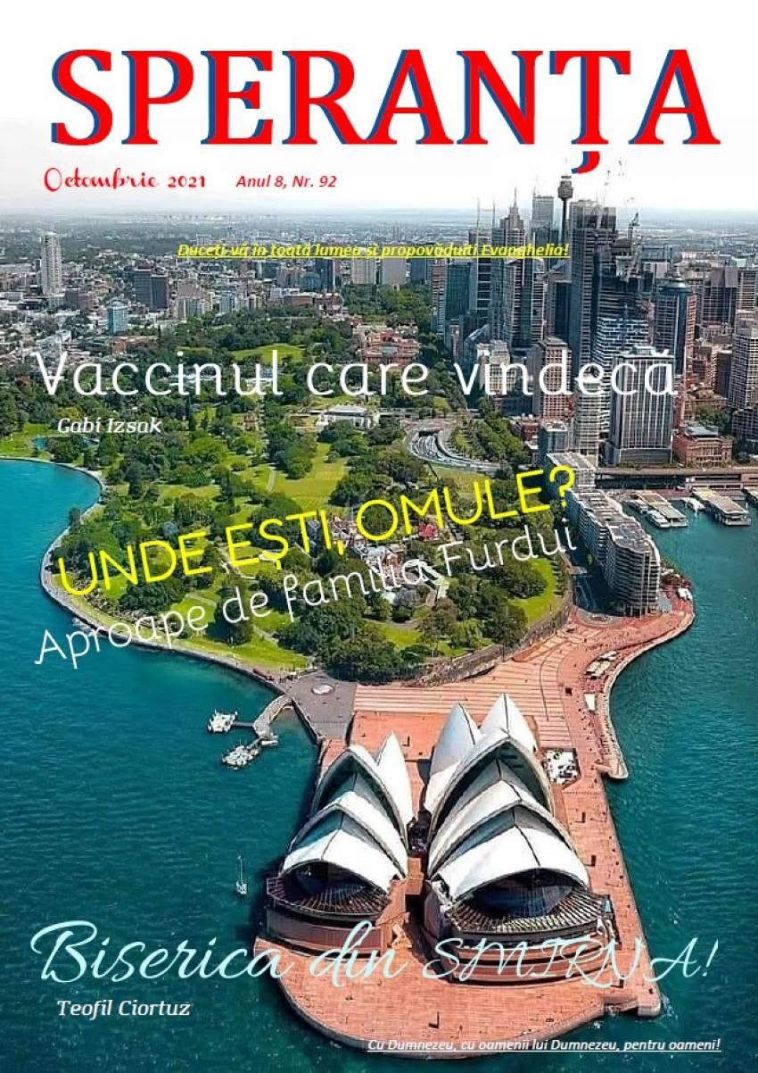 Revista Creștină Speranța din Australia ◉ Octombrie 2021